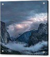 Yosemite In Clouds Acrylic Print