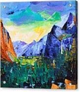 Yosemite Valley - Tunnel View Acrylic Print