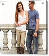 Young Couple Bridge Acrylic Print
