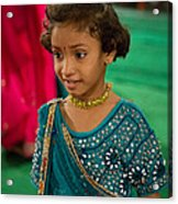 Young Dancer At The Navratri Festival Acrylic Print