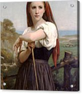 Young Shepherdess Acrylic Print