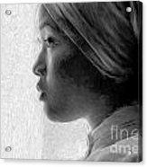 Young Woman In Turban Acrylic Print