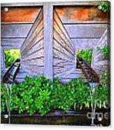 Zen Garden Fountain  Acrylic Print