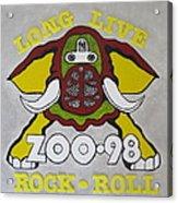 Zoo 98 Elephant Yellow Acrylic Print