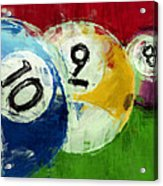10 9 8 Billiards Abstract Acrylic Print