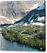 A Man Stand Up Paddle Boards Sup Acrylic Print