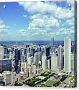 Aerial View Of A City, Chicago, Cook Acrylic Print