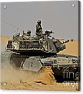 An Israel Defense Force Magach 7 Main Acrylic Print