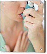 Asthma Inhaler Use Acrylic Print