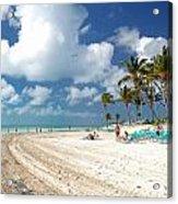 Beach At Coco Cay Acrylic Print