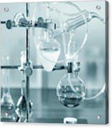 Chemistry Experiment In Lab Acrylic Print