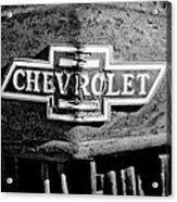 Chevrolet Grille Emblem Acrylic Print