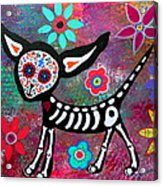 Chihuahua Dia De Los Muertos Acrylic Print