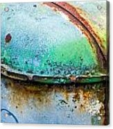 Colored Rust Metal Acrylic Print