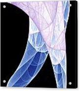 Colorful Silk Scarf Acrylic Print
