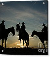 Cowboys Acrylic Print