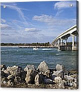 Fishing At Sebastian Inlet In Florida Acrylic Print