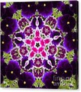 Flower Kaleidoscope Resembling A Mandala Acrylic Print