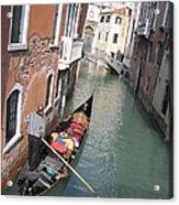Gondola. Venice Acrylic Print by Bernard Jaubert