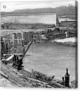Panama Canal, C1910 Acrylic Print