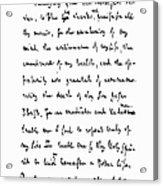 Samuel Johnson (1709-1784) Acrylic Print