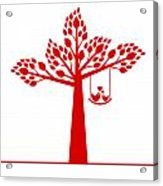 Valentine Tree Acrylic Print