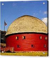 100 Year Old Round Red Barn  Acrylic Print