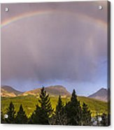 100801a-14 Two Medicine Rainbow Acrylic Print