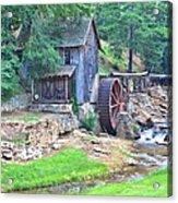 Sixes Mill On Dukes Creek - Square Acrylic Print