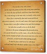104- Theodore Roosevelt Acrylic Print