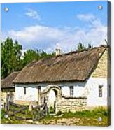 A Typical Ukrainian Antique House Acrylic Print