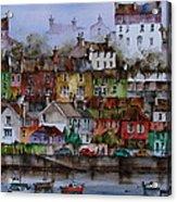 107 Windows Of Kinsale Co Cork Acrylic Print