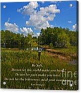 109- Kurt Vonnegut Acrylic Print