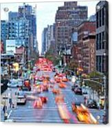 10th Avenue Rush Hour Acrylic Print