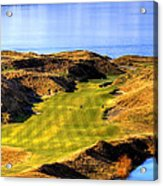 10th Hole At Chambers Bay Acrylic Print by David Patterson