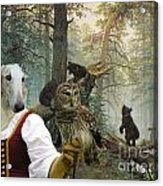 Borzoi - Russian Wolfhound Art Canvas Print Acrylic Print