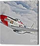 A P-51d Mustang In Flight Acrylic Print
