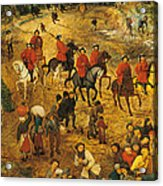 Ascent To Calvary, By Pieter Bruegel Acrylic Print