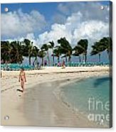 Beach At Coco Cay Acrylic Print