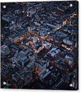 Belfast At Night, Northern Ireland Acrylic Print