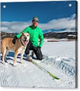 Colorado Cross Country Skiing Acrylic Print