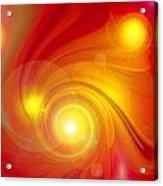 Orange Energy-spiral Acrylic Print
