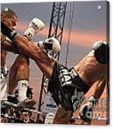 Muay Thai Arts Of Fighting Acrylic Print