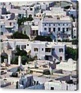Mykonos Town Acrylic Print
