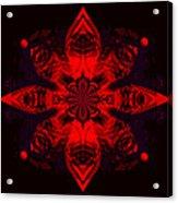 1107 - Mandala Red   Acrylic Print