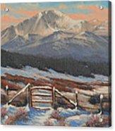 110901-810  Red Gate Acrylic Print