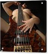 1117 Nude Woman With Guitar Acrylic Print