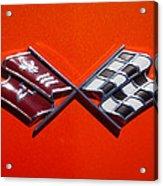 1972 Chevrolet Corvette Stingray Emblem Acrylic Print