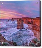 12 Apostles At Sunset Pano Acrylic Print