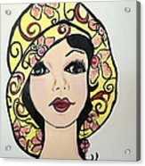 Flapper Girl Claire Acrylic Print